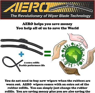 Online Automotive FWBCTCOR57 4001 Front Aero//Flat Windscreen Wiper Blades Set of 2