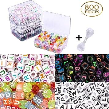 Whaline - 800 unidades de 4 colores acrílicos de letras del ...