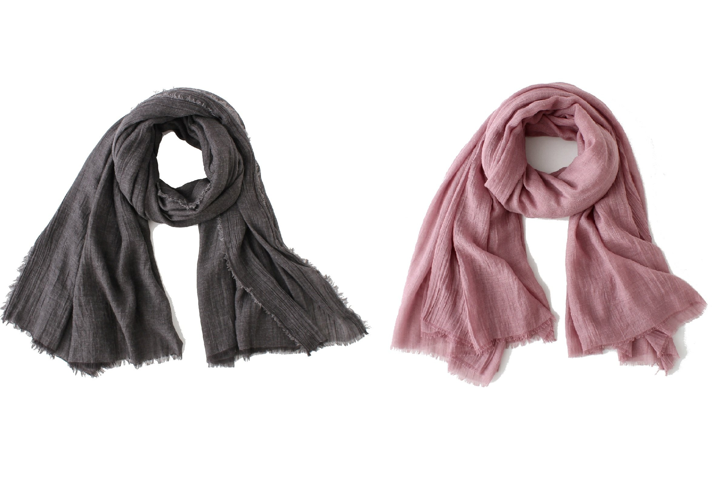 WS Natural Oversized Soft Scarf/Shawl/Wrap Basic Scarves Square For Men And Women (Charcoal and purple)