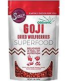 Suncore Foods – Organic Goji Berries, 8oz Bag, Gluten Free and Non-GMO, Sulfite Free, Superfood