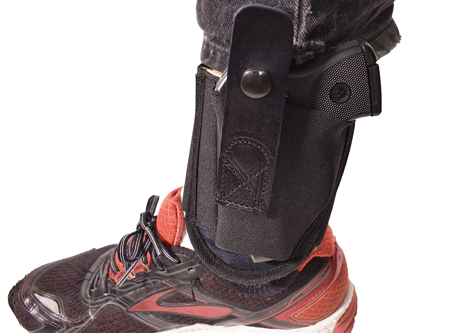 Ruger LCP Concealed Carry Ankle Holster| Fits Glock 42, 43, Sig P938, Ruger  LCP, and other  380 Sub Compact Handguns| Concealed Carrier Ankle Pistol