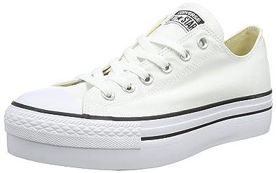 Womens 540265c Gymnastics Shoes, Off White (Bianco), 10 UK Converse