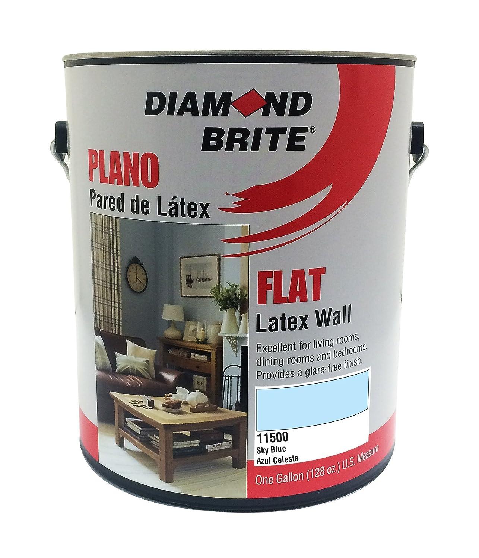 Diamond Brite Paint 11500 1-Gallon Flat Latex Sky, Blue