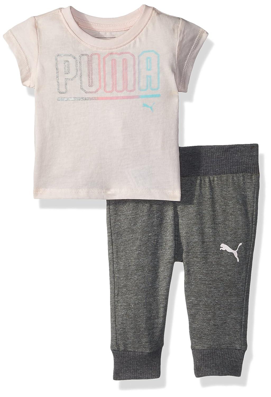 14ae3be10c06a2 Amazon.com  PUMA Baby Girls  2 Piece Tee   Capri Joggers Set  Clothing