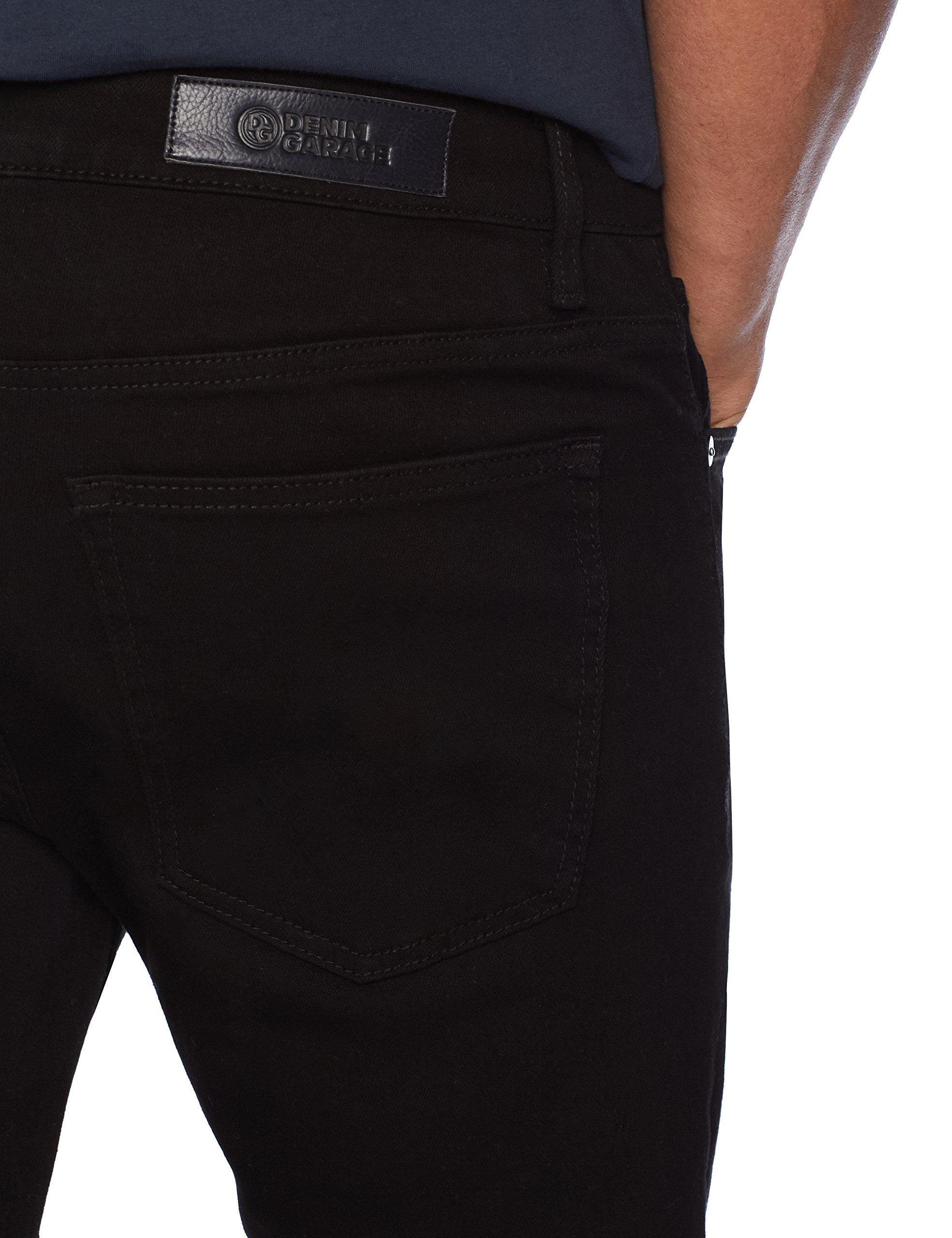 Denim Garage Classics Men's Skinny Stretch Jean 31X32 Black by Denim Garage Classics (Image #4)