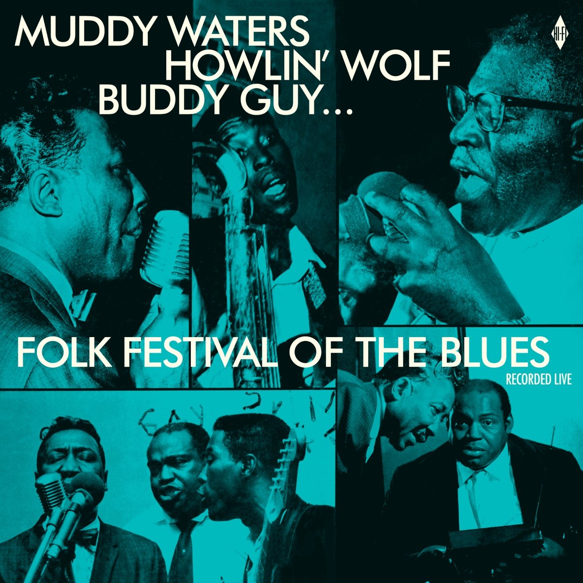 Vinilo : WATERS,MUDDY / HOWLIN WOLF / BUDDY GUY / SONNY BOY WILLIAMSON / WILLIE D - Folk Festival Of The Blues With Muddy Waters, Howlin Wolf, Buddy Guy,sonny Boy Williamson, Willie Dixon / Various (180 Gram Vinyl, Remastered, Spain - Import)