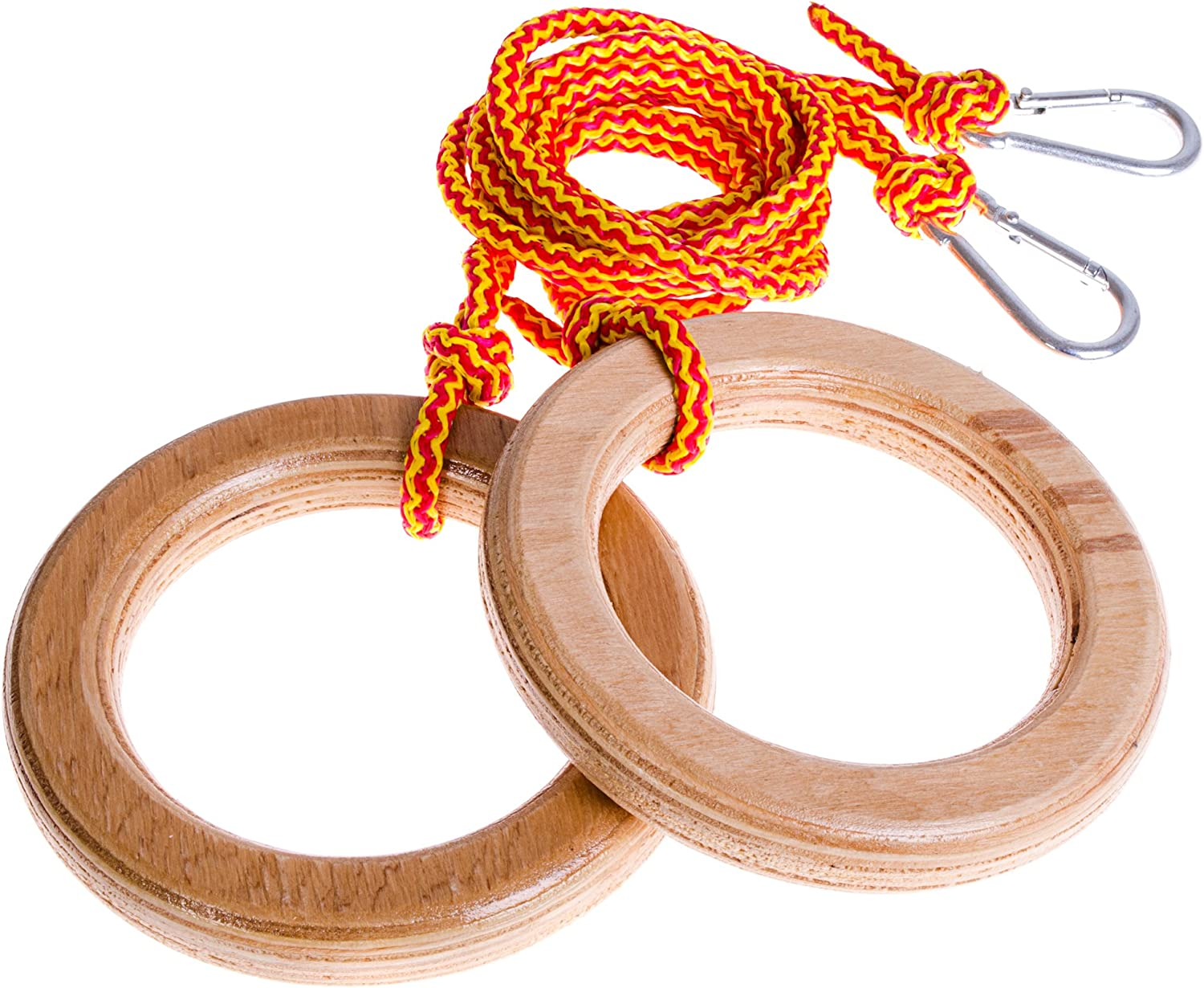 EVAS Kids gym rings - Gymnastics equipment for home for kids and toddler - Accessories for swing set   playground   jungle gym - Monkey rings - Gymnastic toys for indoor play gym