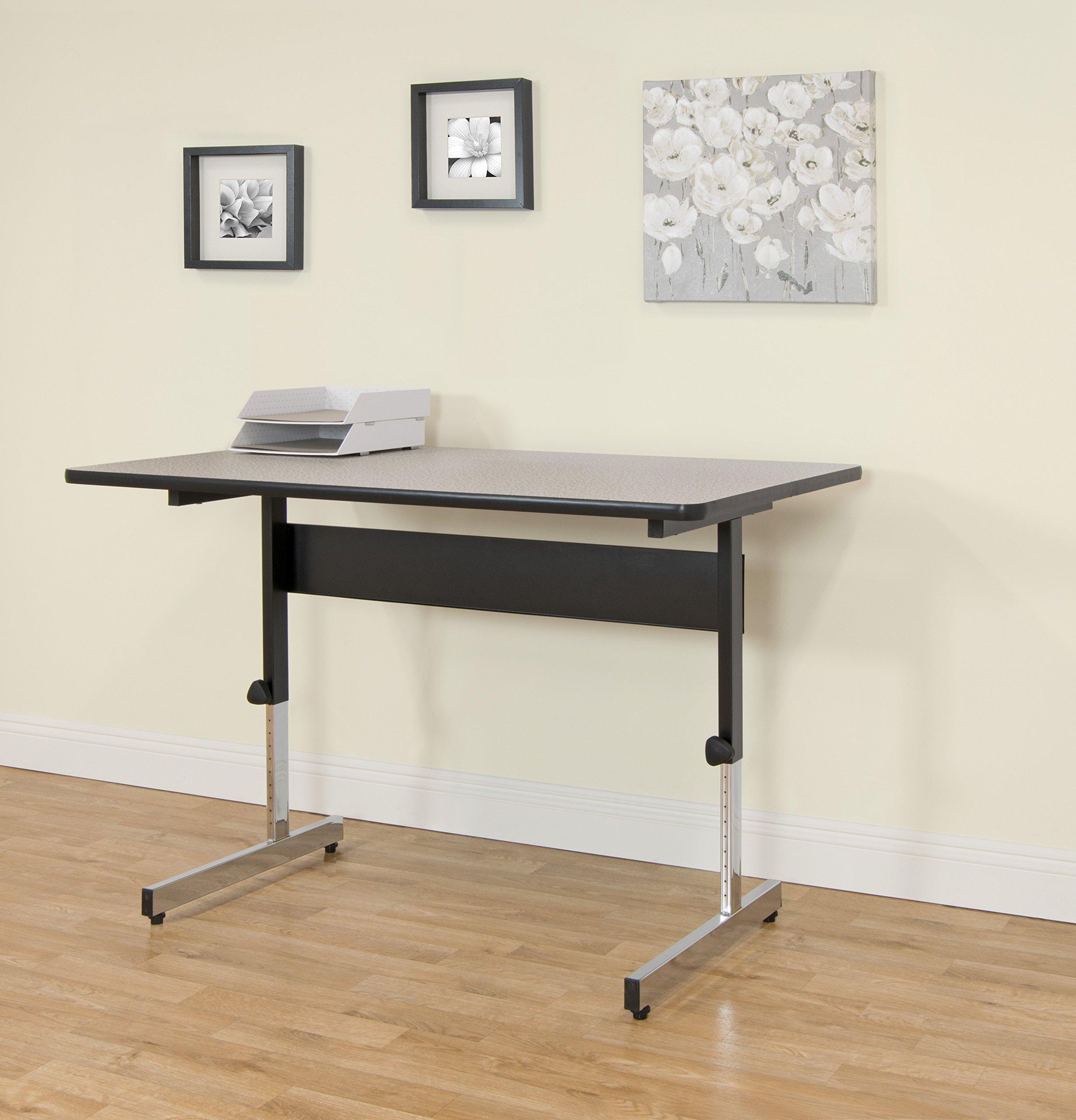 Calico Designs 410382.0 Adapta Desk, 48'', Black/Spatter Gray by Calico Designs (Image #2)