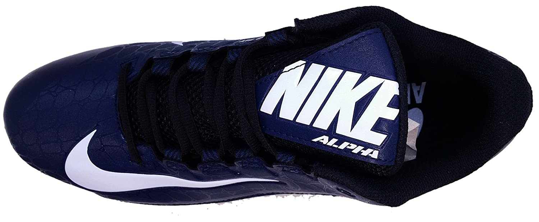 Nike Mens Alpha Strike 2 Mid TD Football Cleats Navy 7.5