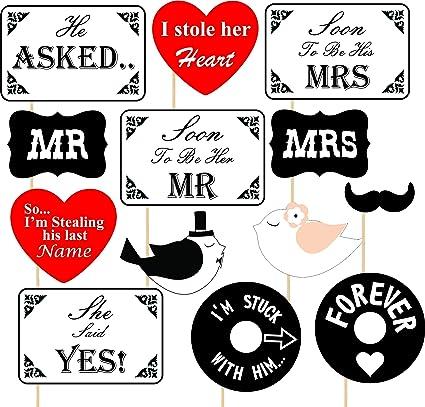 Wedding Photos Props.Syga Pre Wedding Party Photo Booth Props Multi Colour Set Of 13