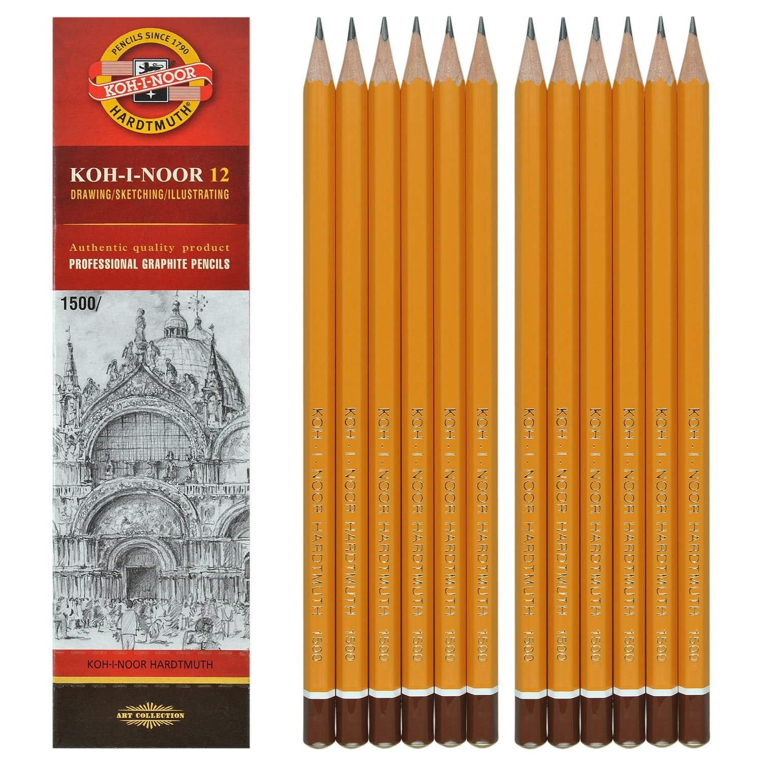 KOH-I-NOOR 10H Graphite Pencil (Pack of 12) 150010H01170
