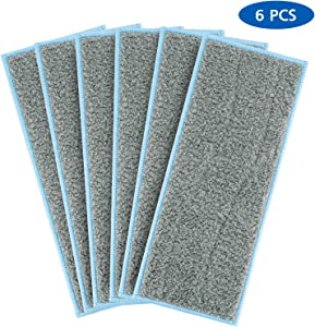 LINNIW Washable Wet Mopping Pads Compatible Braava Jet m Series, Reusable Wet Pads for iRobot Braava Jet M6 (6110) (Pack of 6)