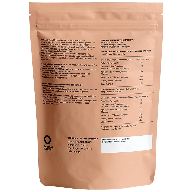 Proteína de colágeno PRIMAL | Péptidos hidrolizados de colágeno | Proviene de ganado de pastoreo | Tipo I y Tipo II | Aprobado por laboratorios | Sin sabor ...