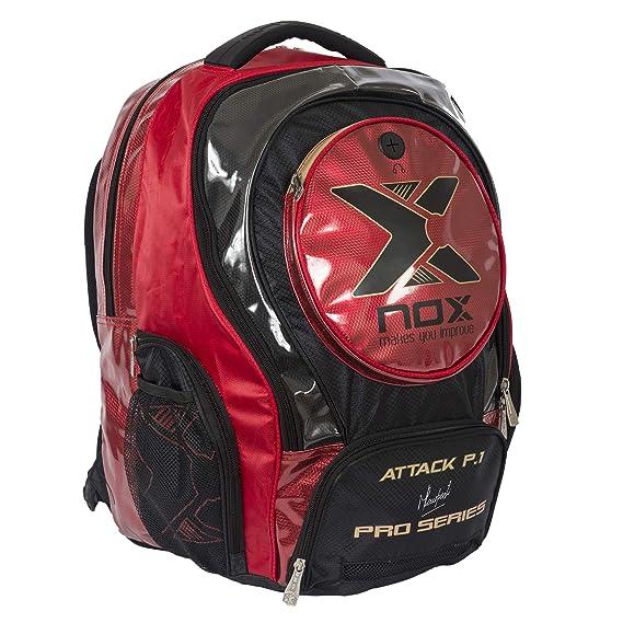 NOX Attack Pro P.1 Mochila de Pádel, Unisex Adulto, Rojo, Talla Única: Amazon.es: Deportes y aire libre