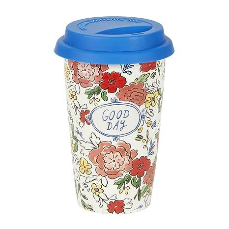 Amazon.com: c.r. gibson 12 ounce taza de viaje de cerámica ...
