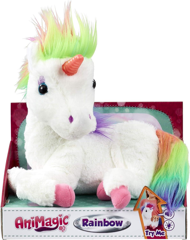 Vivid Rainbow, Mi Unicornio Mágico. Animagic. Acaríciale y su Cuerno se iluminará, Color Blanco (Goliath Games 256301)