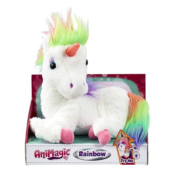 Vivid Rainbow, Mi Unicornio Mágico. Animagic. Acaríciale y su Cuerno se iluminará, Color Blanco