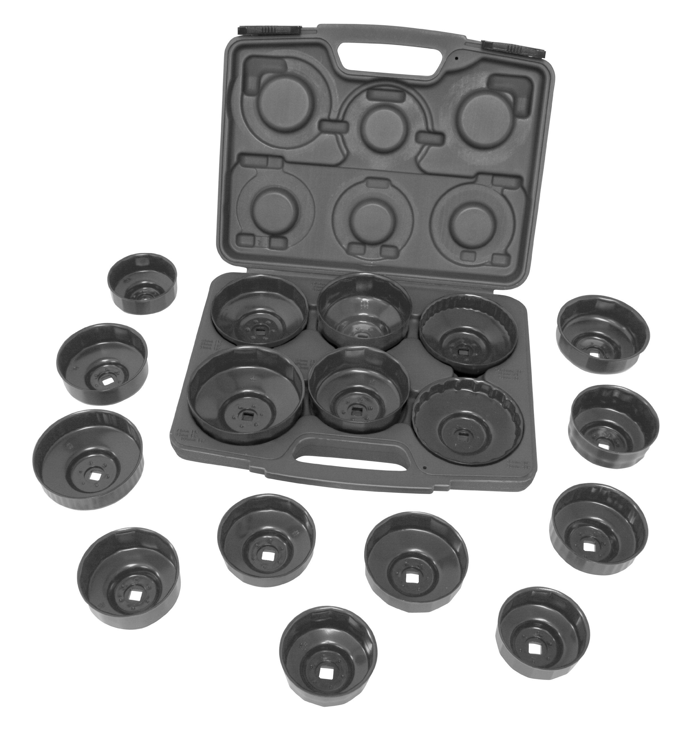 Lisle 61500 17-Piece HD End Cap Wrench Set