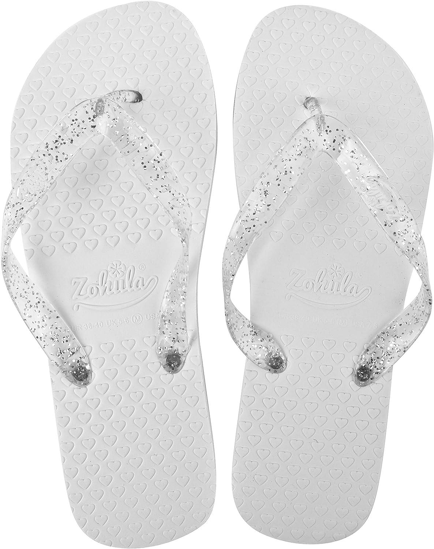 Zohula Blanco tirón boda Chanclas 20 pares Incluyendo Cesta - Tamaños Mixtos- 3 x 35-37, 12 x 38-39, 5 x 40-42: Amazon.es: Zapatos y complementos