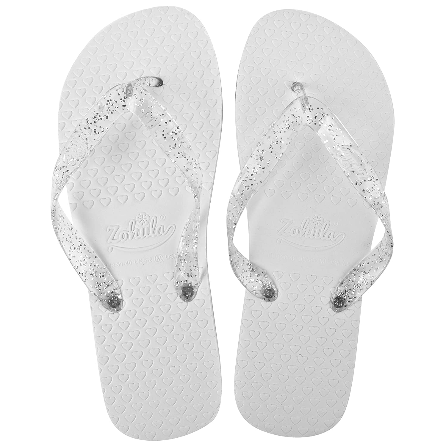 bd339a5b17e53e Zohula White Wedding Premier Party Pack - 20 Pairs Flip Flops Mixed Sizes -  Sx3 Mx12 Lx5 Including Basket  Amazon.co.uk  Shoes   Bags