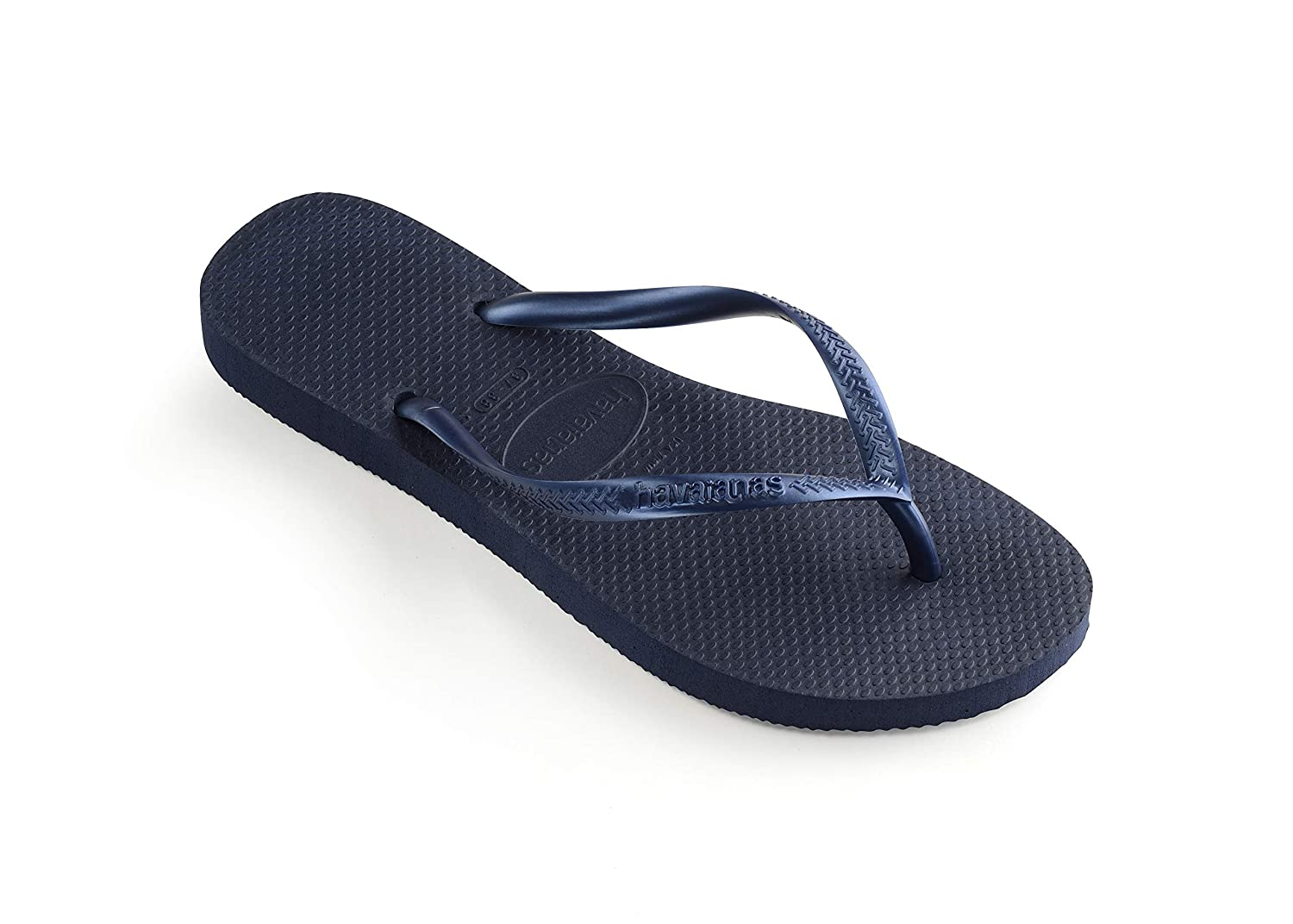 a7c5740bcf6248 Amazon.com  Havaianas Women s Slim Sandal Flip Flop Navy Blue 39 40 BR  (9-10 M US)  Havaianas  Shoes