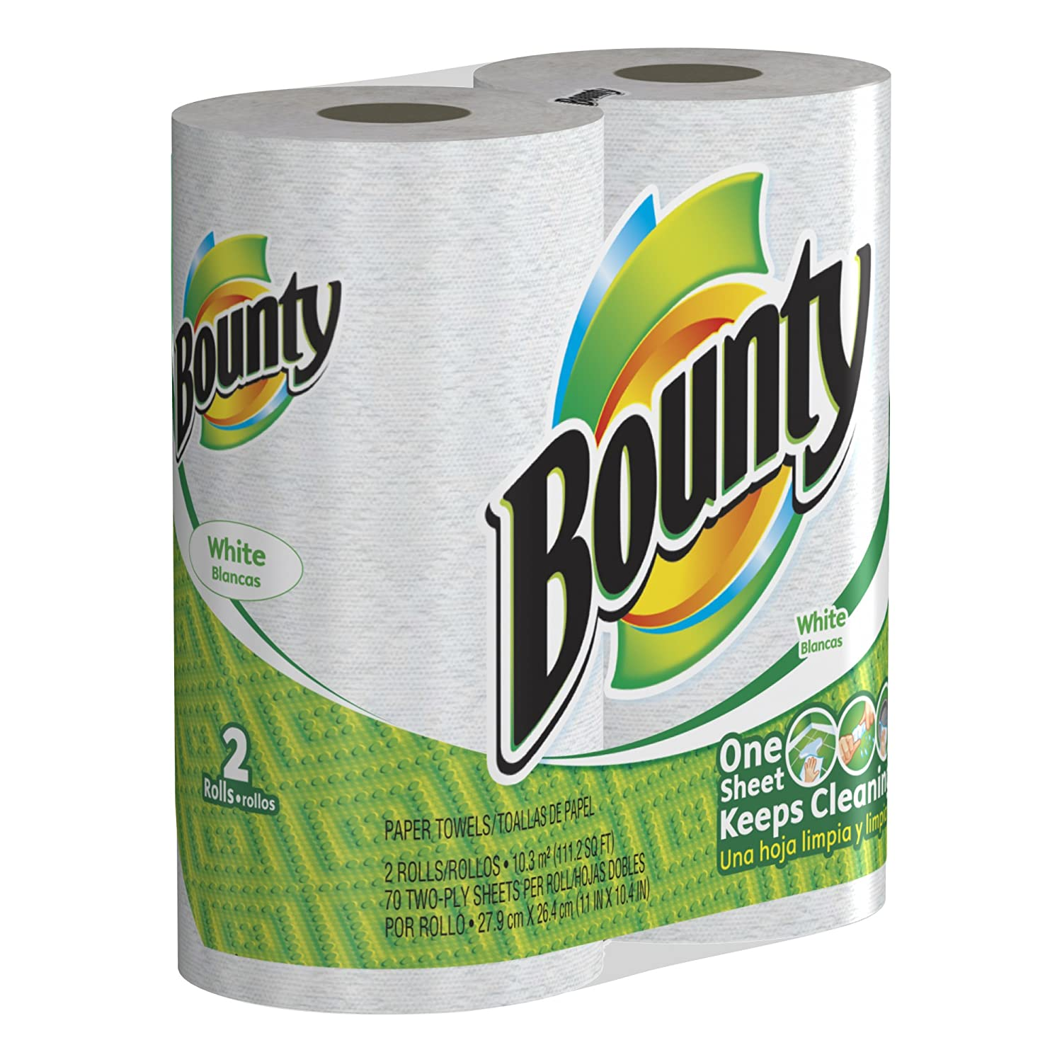 Amazon.com: Bounty Value Roll, White, 2-Count (Pack of 12): Health & Personal Care