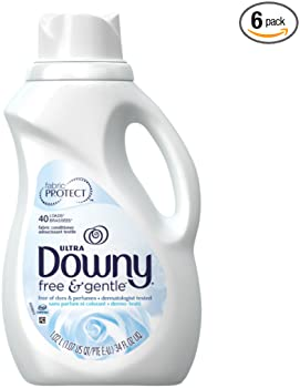 6-Pack Downy Free & Gentle 34 fl.oz Liquid Fabric Conditioner