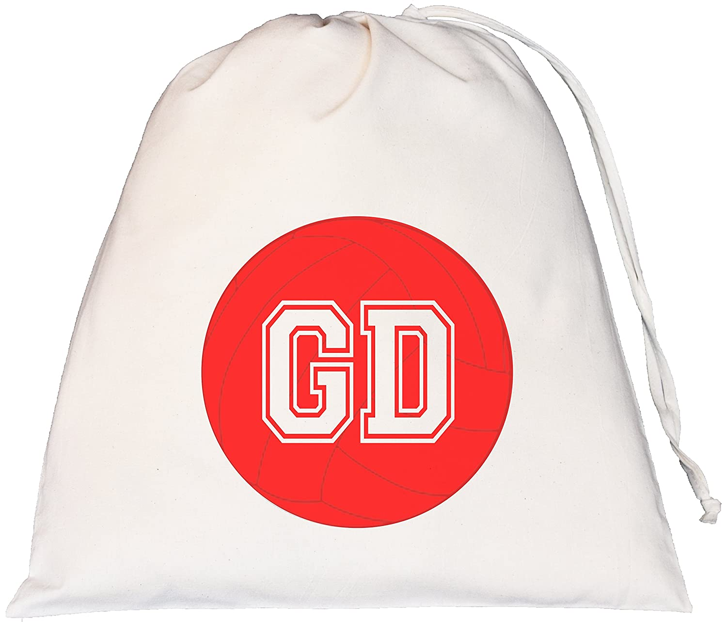 Netball - Goal Defence - Large Natural Cotton Drawstring Bag