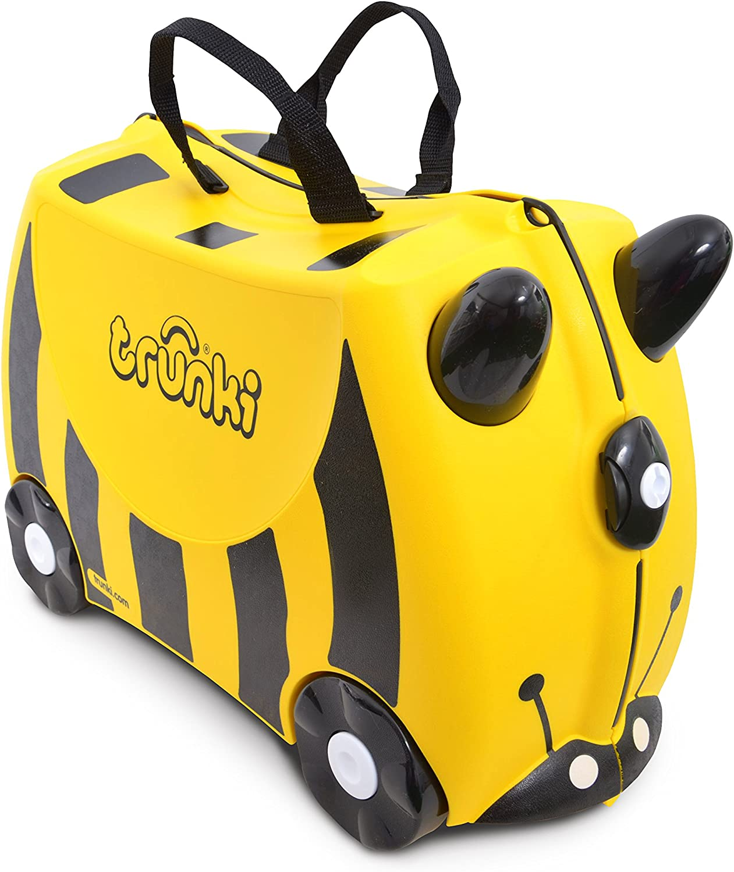 Trunki Maleta correpasillos y equipaje de mano infantil: Abeja Bernard (Amarillo)