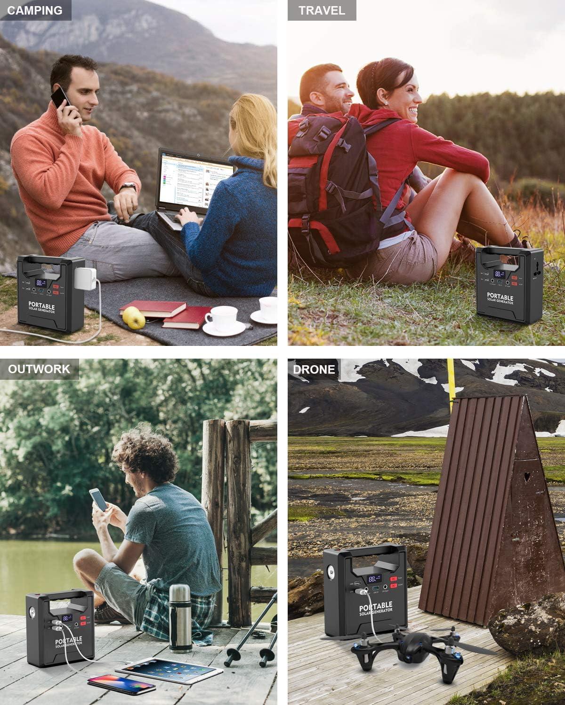 X-DRAGON - Batería externa portátil de 5 V 12 V 220 V ~ 230 V con múltiples funciones, capacidad masiva de 39000 mAh para teléfonos celulares, ordenadores portátiles, ventiladores de TV, caja