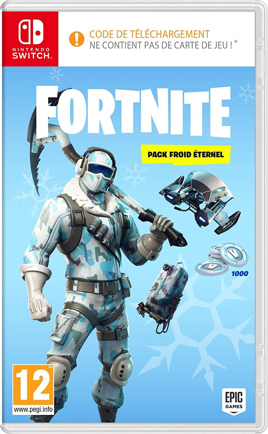 Calendrier Jeux Switch.Fortnite Pack Froid Eternel Code De Telechargement Sans
