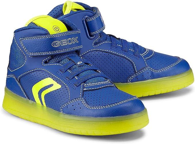 Geox J Kommodor C, Baskets Hautes garçon
