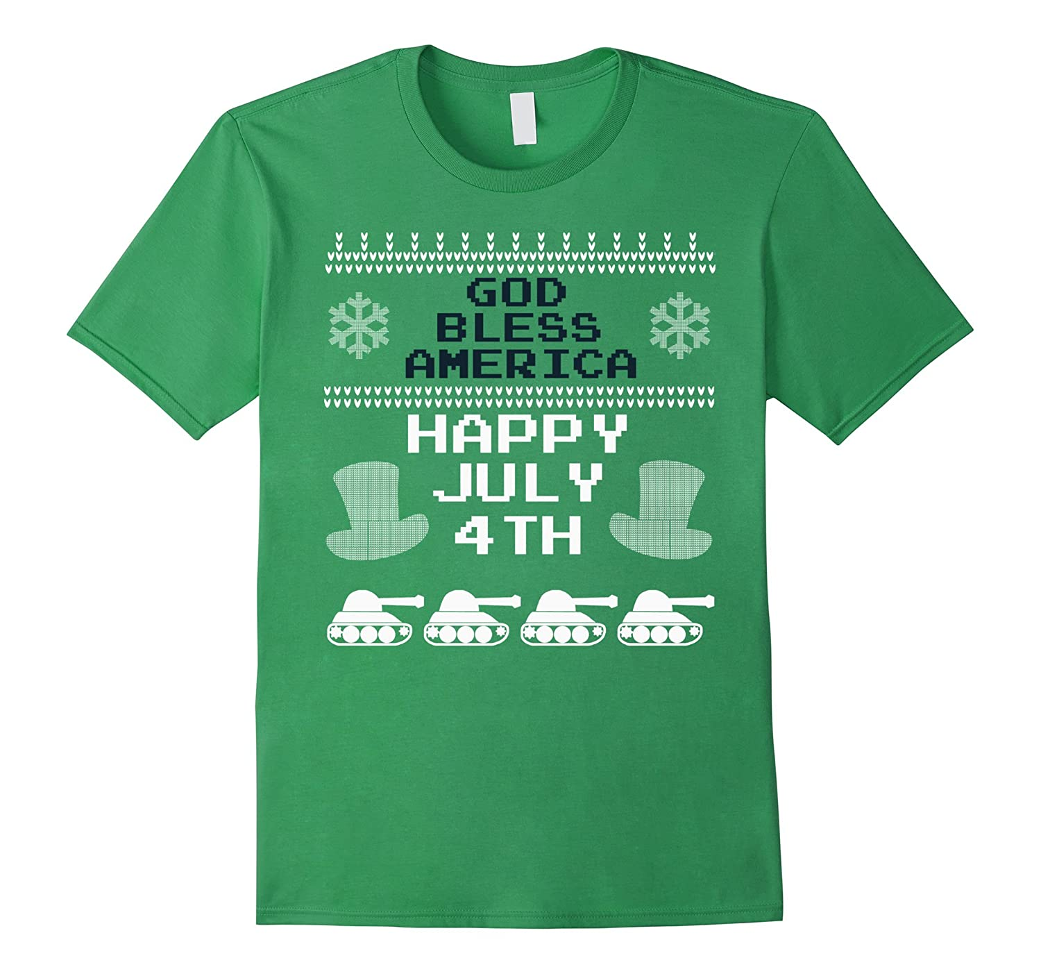 HAPPY JULY 4TH FOURTH GOD BLESS AMERICA USA MILITARY T-SHIRT