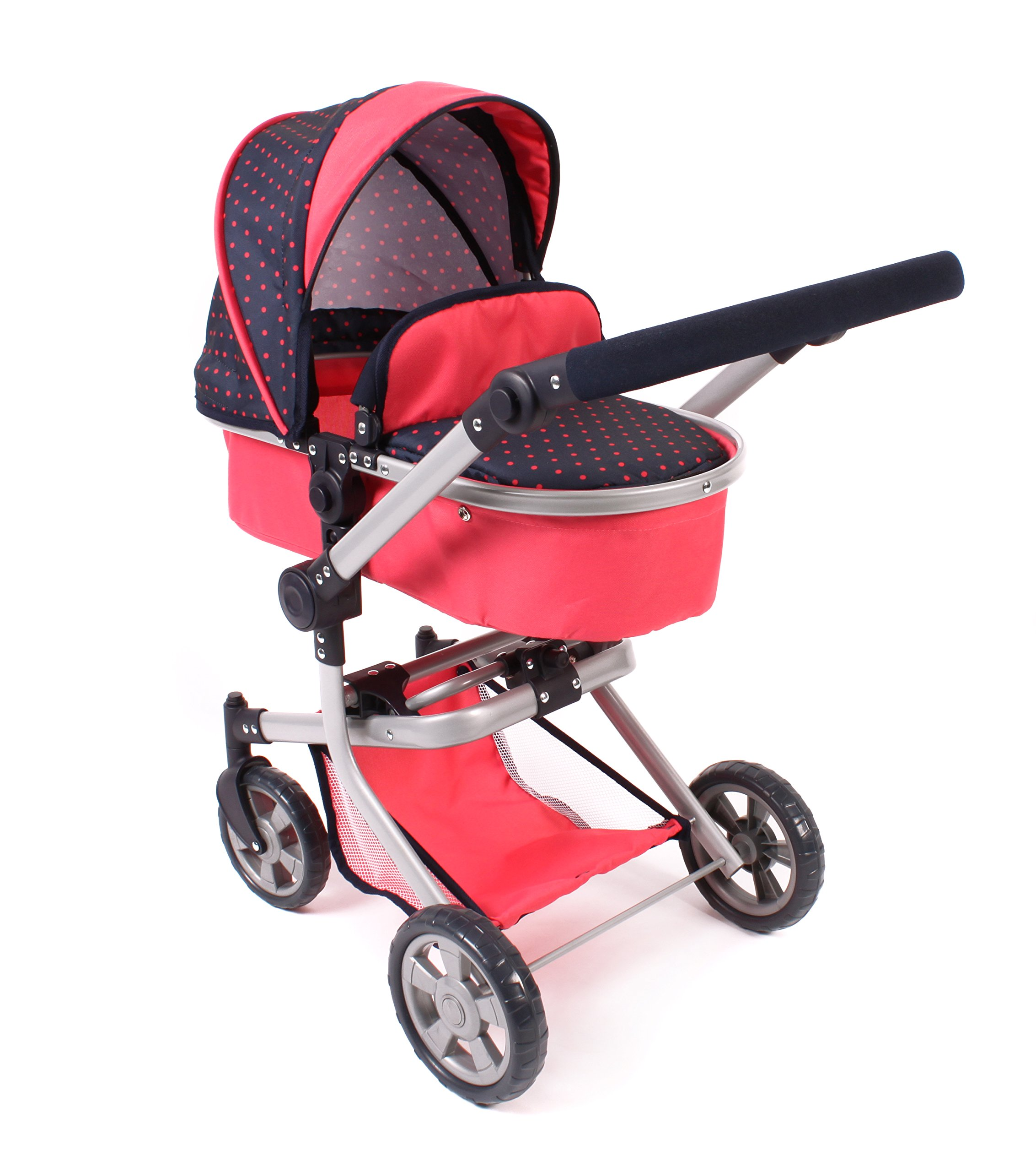 Bayer Chic 2000 595 11 – Carrito para muñecas Mika, Dots Coral product image