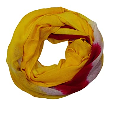 0f44dc62d Peegli Women Tie & Dye Print Scarves Yellow Neck Wrap Stole Cotton Blend  Scarf: Amazon.in: Clothing & Accessories
