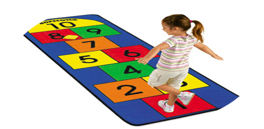 Girl playing traditional hopscotch game with numbers in ... |Rules For Playing Hopscotch
