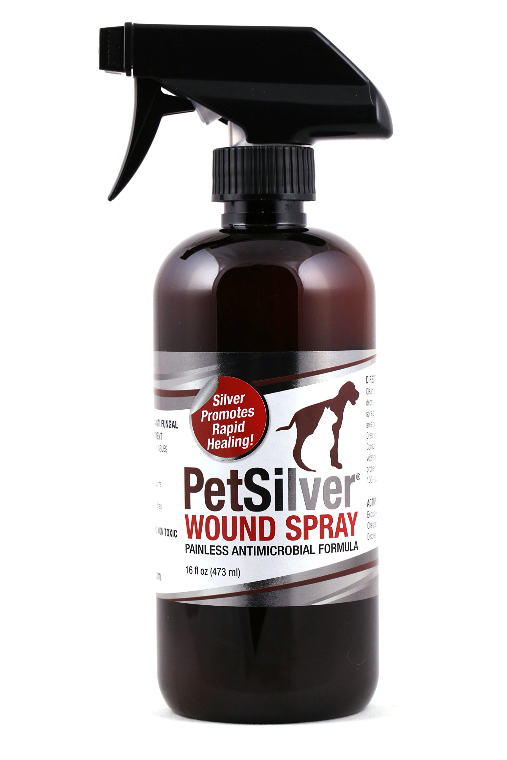 PetSilver 50 ppm Wound Spray with New Chelated for a Variety of Skin Issues