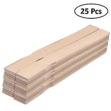 Palitos de madera 30 cm (Pack de 25) - palo natural para Pintura ...
