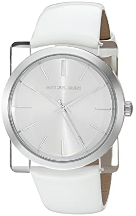 f770f874bb28 Image Unavailable. Image not available for. Color  Michael Kors Women s  Kempton White Watch MK2482