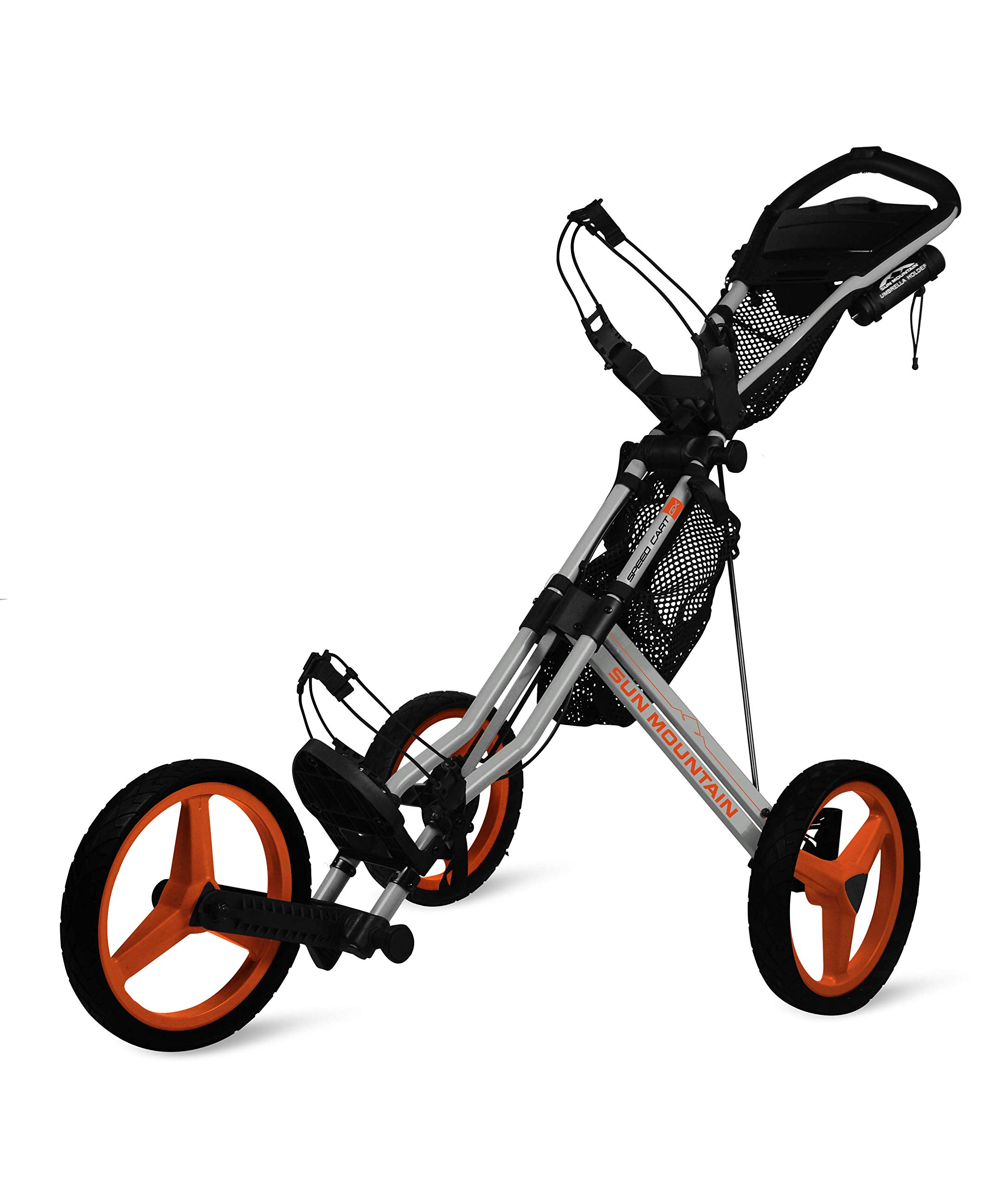 Sun Mountain Golf 2019 Speed Cart GX 3 Wheel Push Cart (Cement/Inferno)