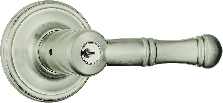 Brinks Push Pull Rotate Door Locks Arnett Entry Lever 23015-119 Satin Nickel