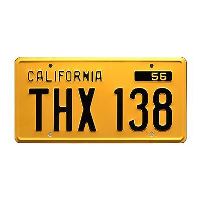 Celebrity Machines American Graffiti   THX 138   Metal Stamped License Plate: Automotive