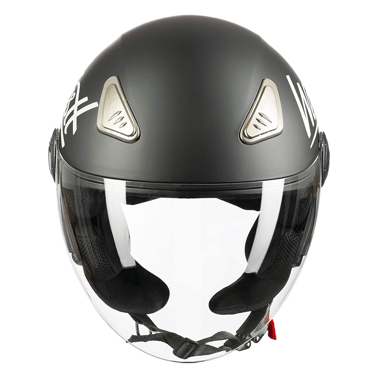 Westt/® Jet /· Casco Jet Moto Nero Opaco Scooter Motorino Chopper /· Casco Moto Donna e Uomo Demi Jet /· Omologato ECE