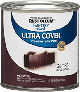 Rust-Oleum 1977730 Painters Touch Latex, Half Pint,Kona Brown