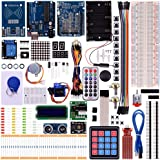 Kuman New Arduino Components with UNO R3 LCD servo Ultimate Starter RFID Learning Kit for Arduino UNO Nano Learners Beginner, Complete 48 Set Kits K25