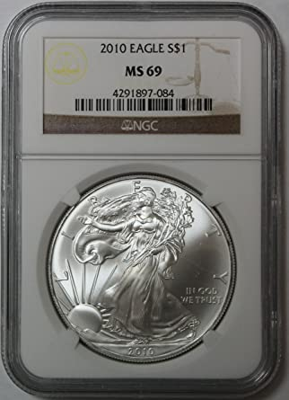 2010 American Silver Eagle $1 MS69 NGC
