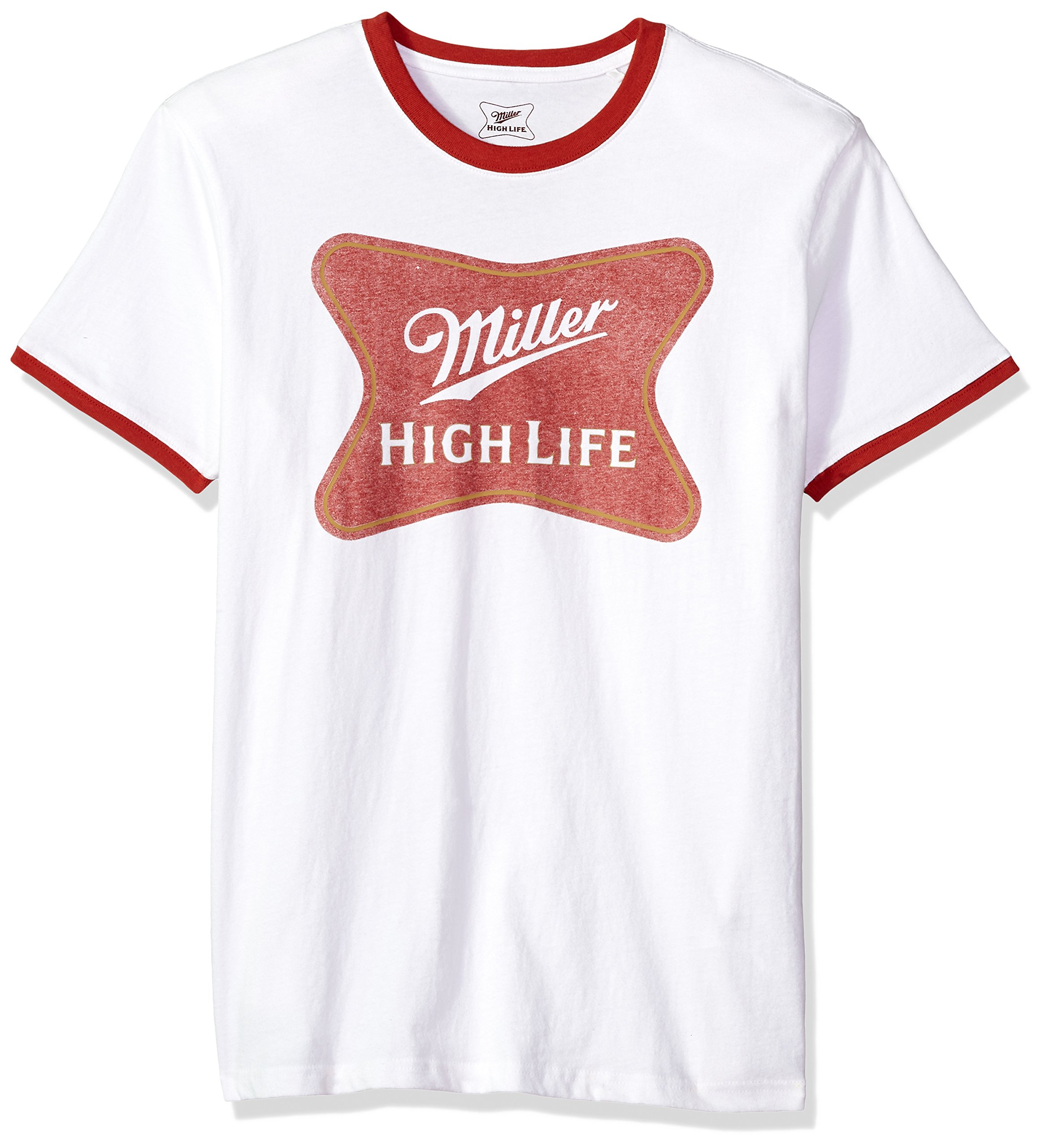 Lucky Brand Men's Miller Soft Cross Graphic TEE, Bright White/red, L