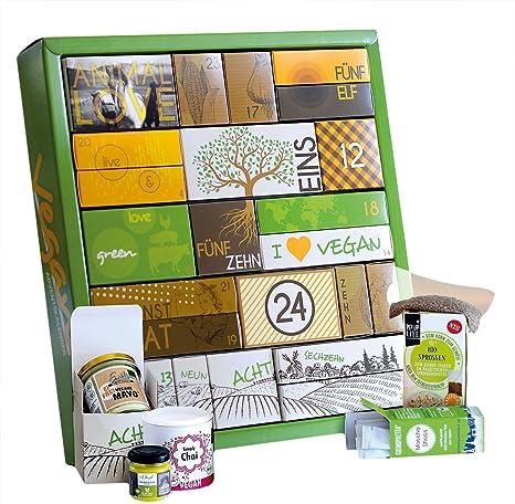 Veganer Weihnachtskalender.Gourmet Adventskalender Vegan Bio 24 Feine überraschungen In Einem Großen Kalender