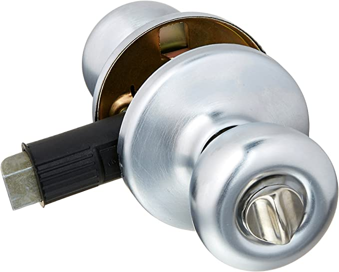 Ultra Security 84261 Mobile Home Tulip Knob Door Lock Entry Set with Keys KD//KW1 Stainless Steel