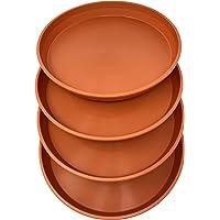 Matri Round Plastic Plant Saucer 9″ Set of 4 Units (Clay Color)